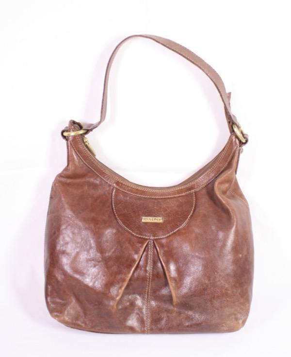 Details zu B10 Rialto Damen Tasche Shopper Leder braun Schultertasche Boho Shabby Vintage