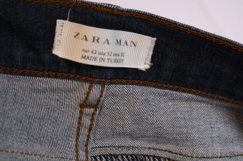 7cd0744b GJ13-145 Zara Man Herren Jeans Denim blau W32 L32 Stretch straight ...