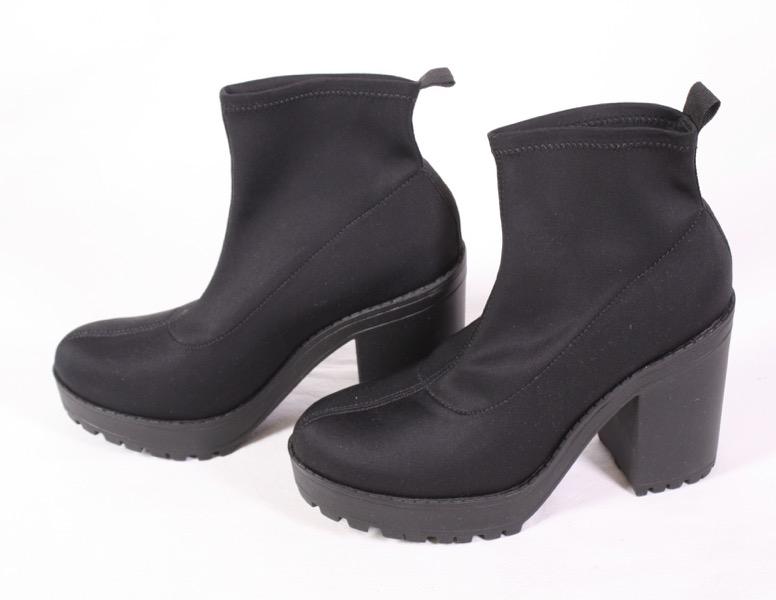 Details zu Neue, schwarze StiefelettenBoots v. H&M, Damen, 38