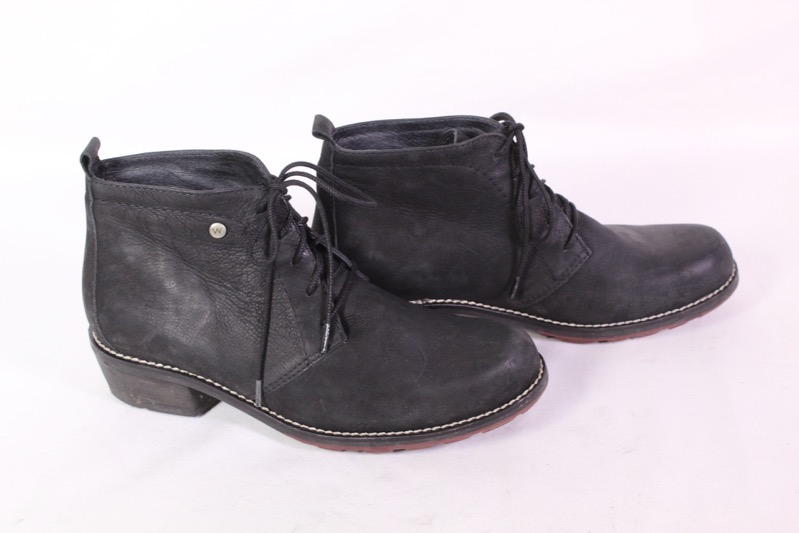 neues Erscheinungsbild bester Ort für Wählen Sie für echte Details zu 36D Ecco Wolky Damen Stiefeletten Booties Leder schwarz Gr. 39  Schnürstiefel