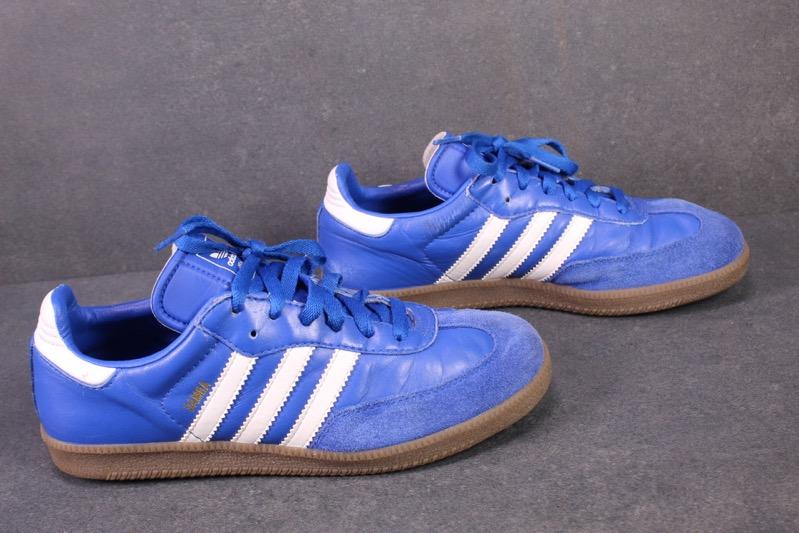 Details zu SB256 Adidas Samba Damen Sneaker Sportschuhe Gr. 38,5 blau weiß Vintage