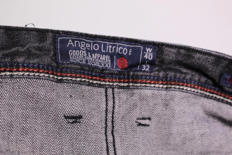 GJ18 40 Angelo Litrico Herren Jeans grau schwarz W40 L32 tapered leg regular fit | eBay