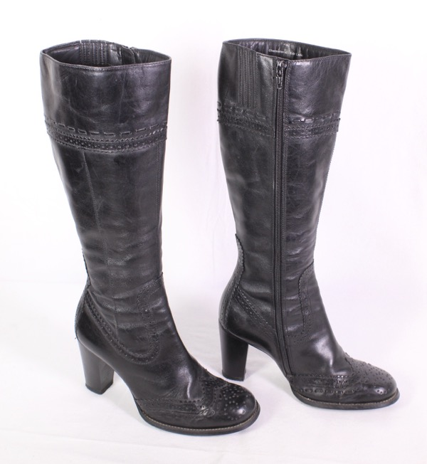 Details zu 20D Fabiani Damen Stiefeletten Stiefel Gr. 36 Leder braun Absatz Budapester