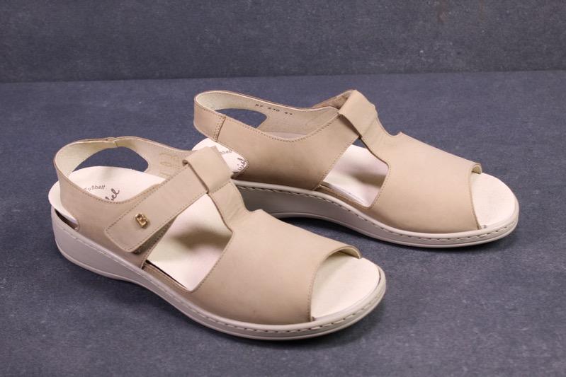 C1205 Brödel Damen Fußbett Sandalen Leder beige Gr. 41 (7,5G) Wechselfußbett NEU | eBay