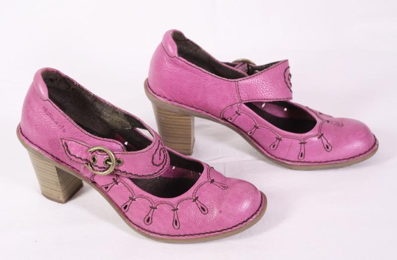 Details zu D6 Tamaris Damen Riemchen Pumps Schuhe Leder pink Gr. 36 hoher Absatz Cut Outs
