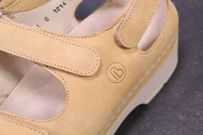 Details zu C1109 Berkemann Toronto Damen Komfort Fußbett Sandalen Leder beige Gr. 36,5