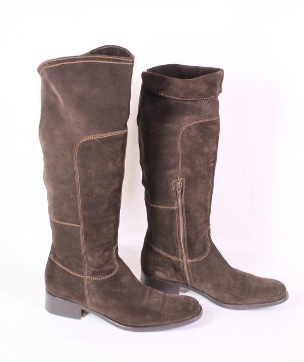 Détails sur 37 S Bottes Femmes Velour cuir marron taille 39 au niveau du genou Tige Bottes Cuir Doublure afficher le titre d'origine