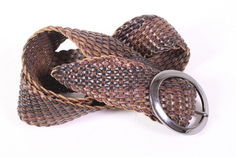 01ee20ee8afea2 G135 Esprit Damen Gürtel Leder braun Flechtgürtel breit 100 - 110 cm  Hüftgürtel