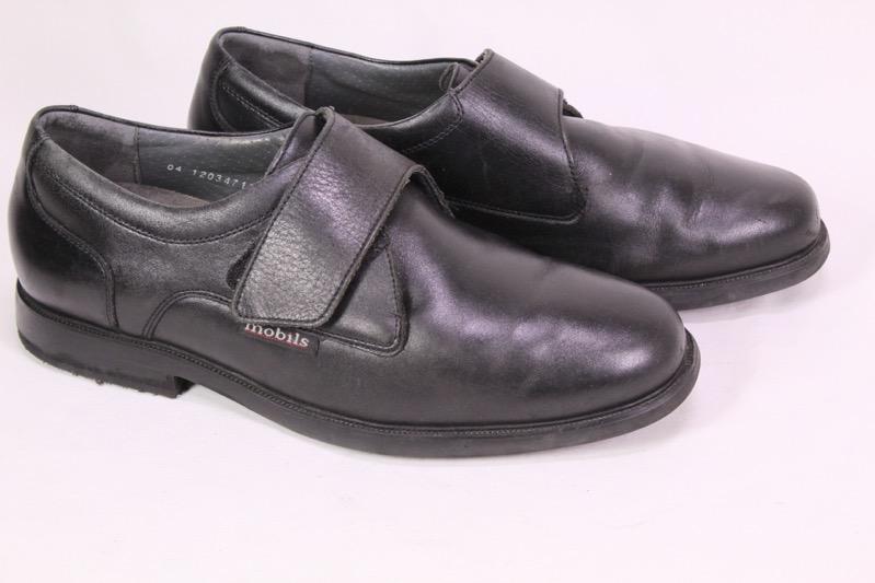3H Mephisto Mobils Herren Schuhe Gr. 44 (9,5) Leder schwarz