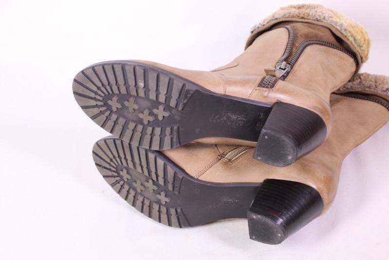 30D Marc Damen Winter Stiefeletten Stiefel Leder braun Gr. 40 gefüttert Fell | eBay