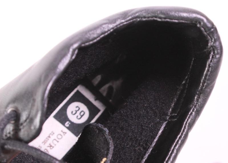 2D C&A Damen Stiefeletten Leder schwarz Gr. 39 Schnürstiefel Boots eckige Form   eBay