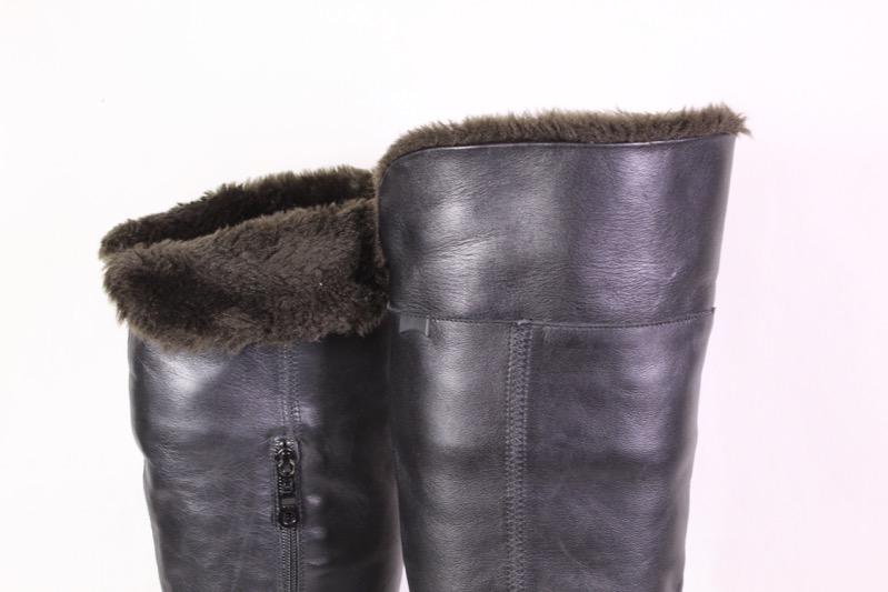 Fur Leather About Title Black Details 40 38s Camper Warmers Original Boots Show Overknee Leg Size jSMGLqzUVp
