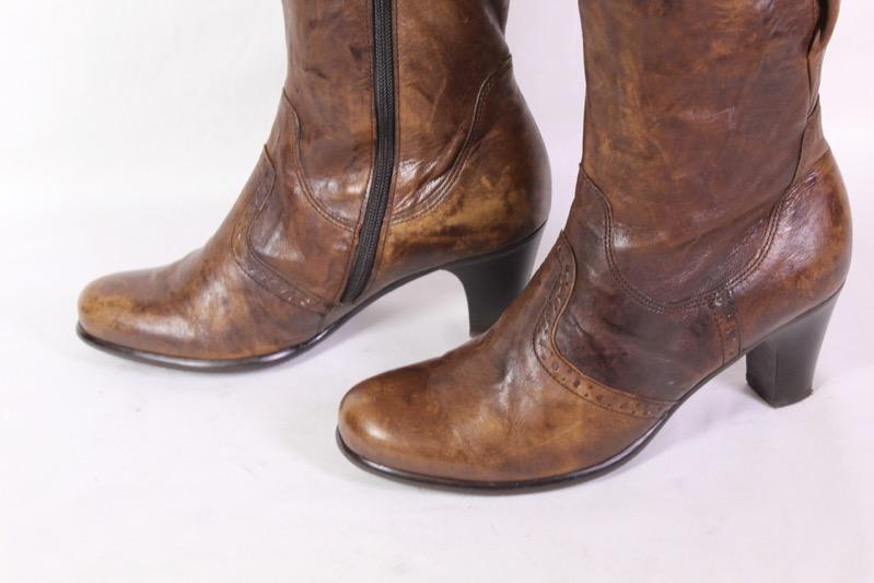 GABOR Leder Schuhe Stiefeletten NEU Budapester