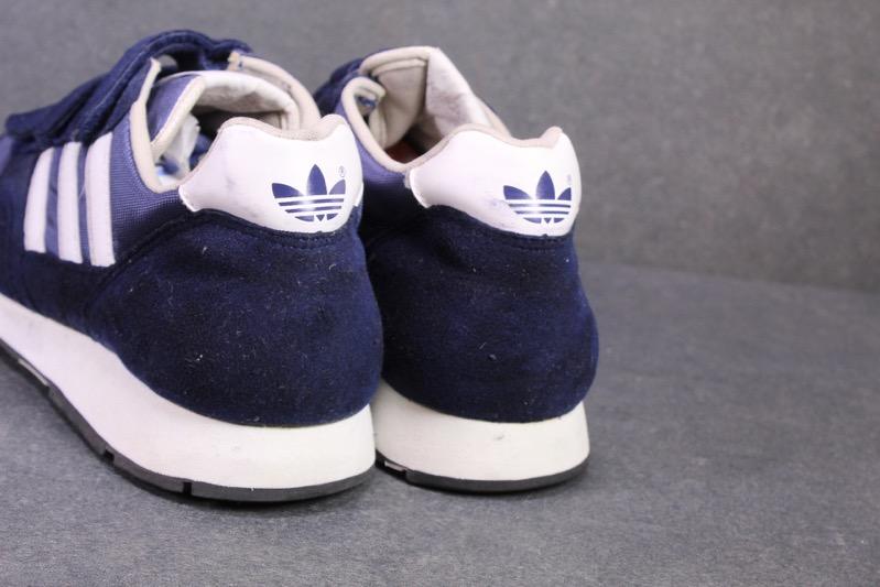 Details zu SB508 Adidas Damen Sneaker Gr. 38 blau weiß Sportschuhe Klettverschluss Vintage