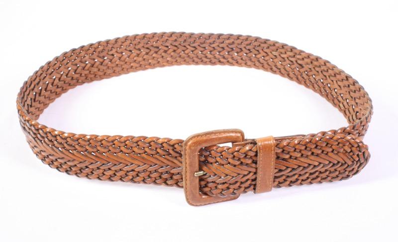 11d8c0cb5e53e8 G150 Esprit Damen Gürtel Leder braun Flechtgürtel breit 85 - 95 cm  Hüftgürtel