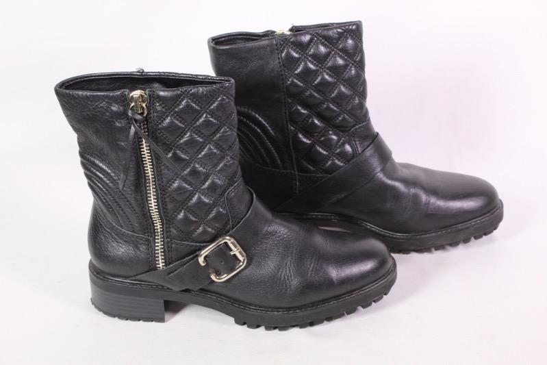 sports shoes 1b8b0 569af 23D Zara Damen Stiefeletten Biker Boots Leder schwarz Gr. 40 ...