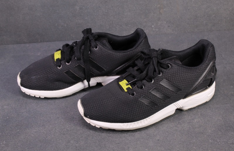 SB341 Adidas ZX Flux Damen Sneaker Gr. 38,5 schwarz Mesh Laufschuhe Low Top | eBay