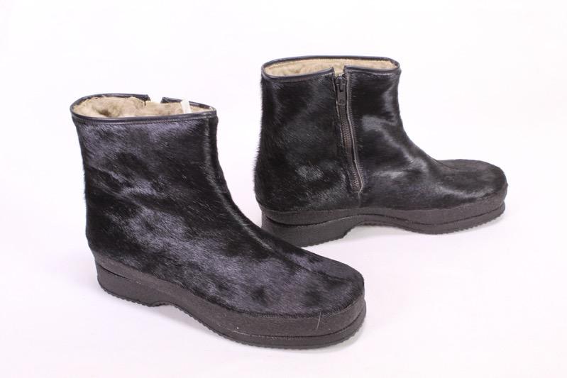 UGG Boots Stiefeletten schwarz Leder 41 Absatz 10cm