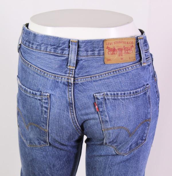 Details zu GJ17 112 Levis 471 Jeans blau W29 L34 straight leg regular fit high waist
