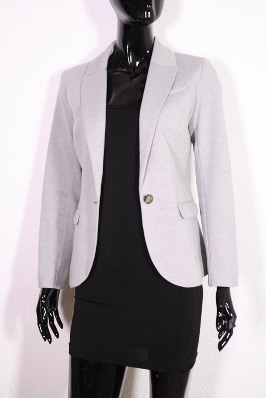 t14 5 h m ladies summer blazer jacket size 36 grey jersey. Black Bedroom Furniture Sets. Home Design Ideas